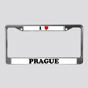 I Love Prague License Plate Frame