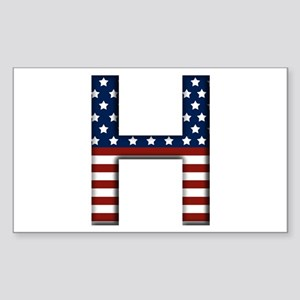 H Stars and Stripes Rectangle Sticker