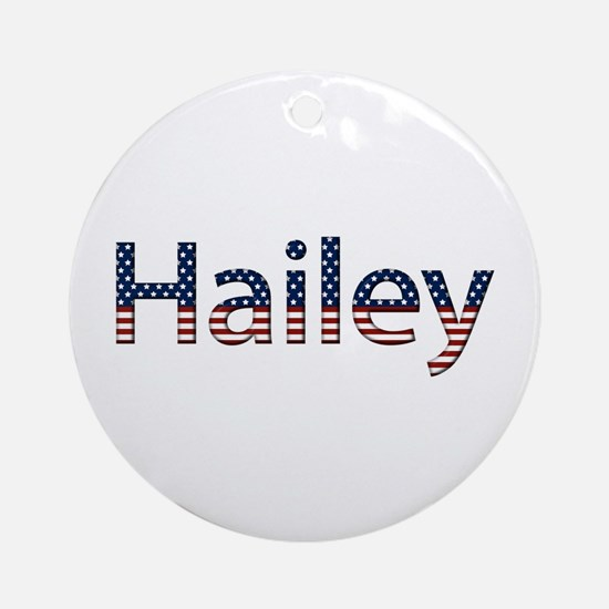 Hailey Stars and Stripes Round Ornament