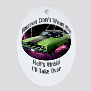 Plymouth Roadrunner Ornament (Oval)