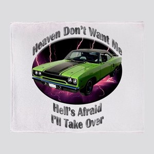 Plymouth Roadrunner Throw Blanket