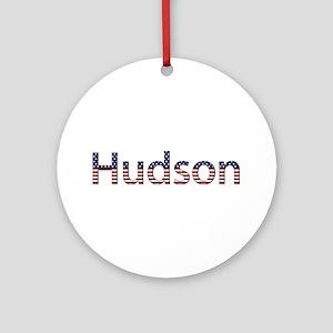 Hudson Stars and Stripes Round Ornament
