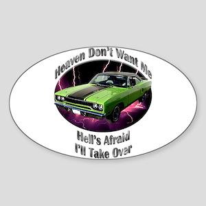 Plymouth Roadrunner Sticker (Oval 10 pk)