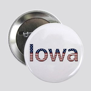 Iowa Stars and Stripes Button