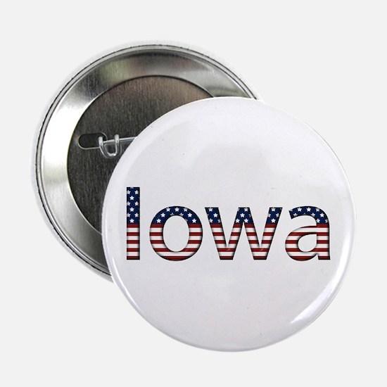 Iowa Stars and Stripes Button