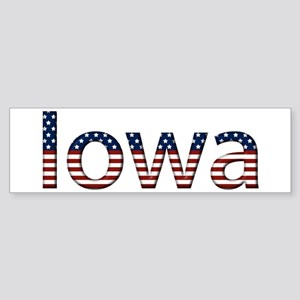 Iowa Stars and Stripes Bumper Sticker