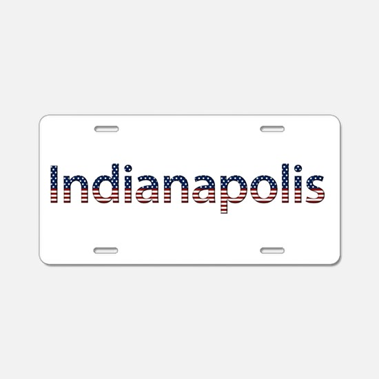 Indianapolis Stars and Stripes Aluminum License Pl