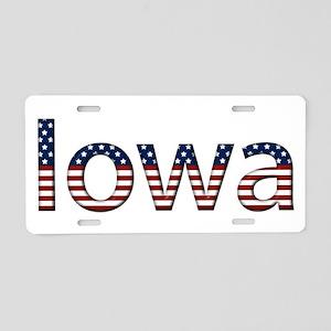 Iowa Stars and Stripes Aluminum License Plate