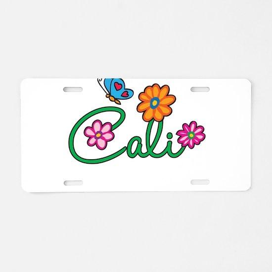 Cali Flowers Aluminum License Plate