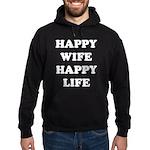 Happy Wife Happy Life Hoodie (dark)