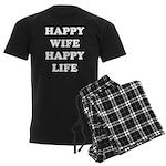 Happy Wife Happy Life Men's Dark Pajamas