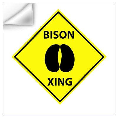 Bison Crossing Wall Decal