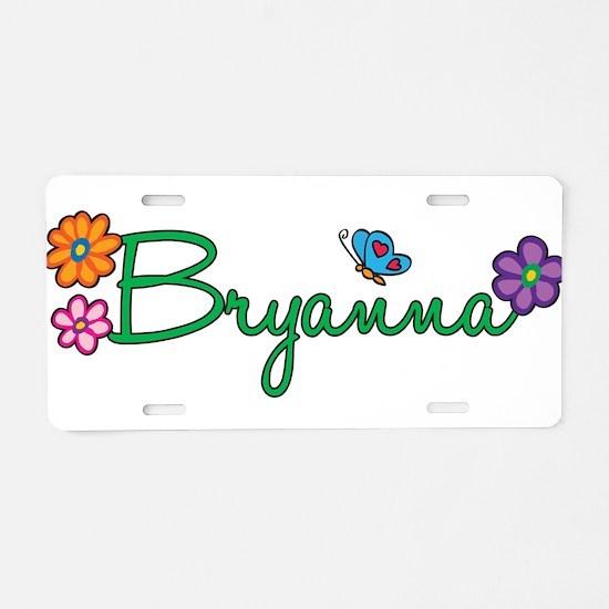 Bryanna Flowers Aluminum License Plate