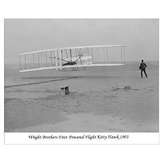 Wright Bros at Kitty Hawk 190 Poster