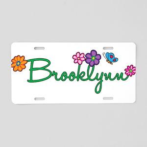 Brooklynn Flowers Aluminum License Plate