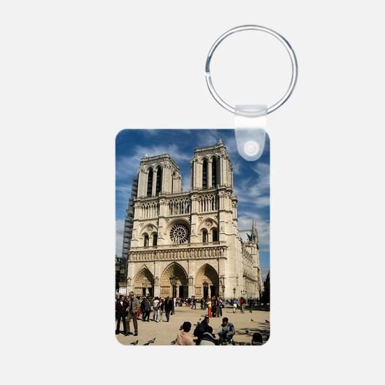 Notre Dame Aluminum Photo Keychain