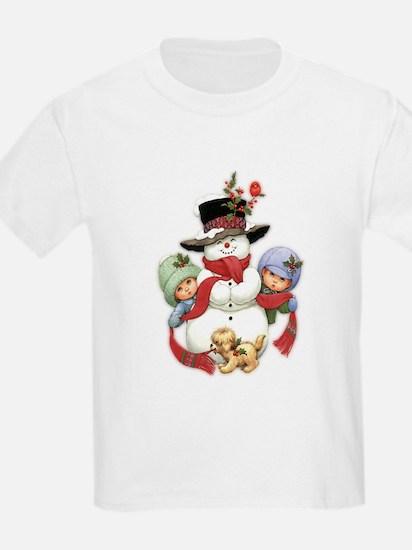 Snowman w/ Kids T-Shirt