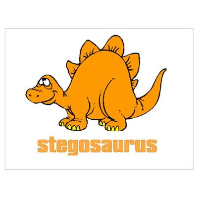 Cute Stegosaurus Poster
