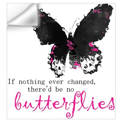 butterfly change Wall Decal
