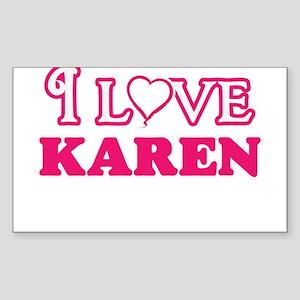 I Love Karen Sticker