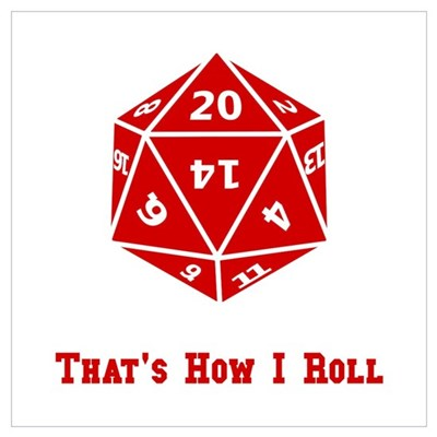 20 Sided Roll Poster