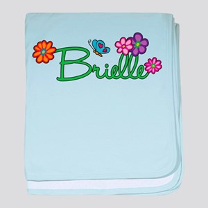Brielle Flowers baby blanket