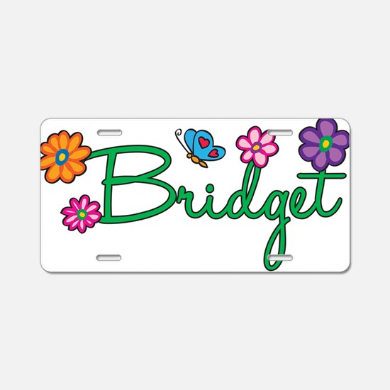Bridget Flowers Aluminum License Plate