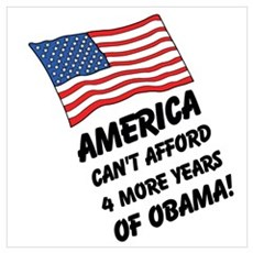 America can't afford Obama Poster