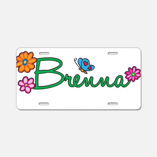 Brenna Flowers Aluminum License Plate