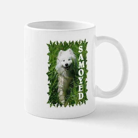 Samoyed In Grass Mug