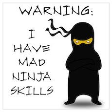 Mad Ninja Skills Poster