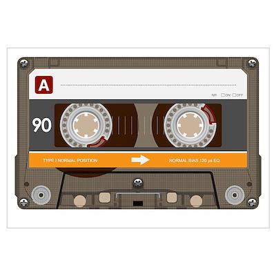 Bitchin' eEghties ('80s) Cassette Tape Large Poste Poster