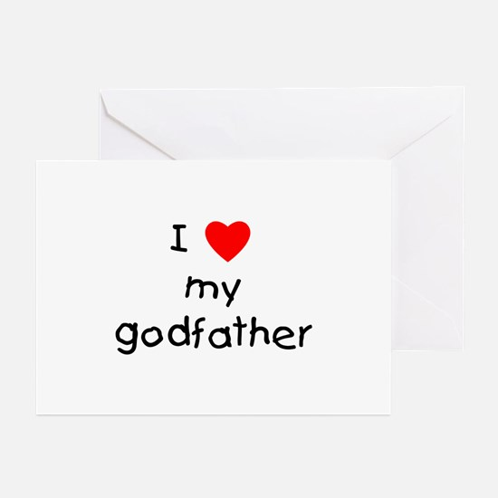 I love my godfather Greeting Cards (Pk of 10)