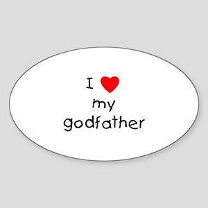 I love my godfather Oval Sticker