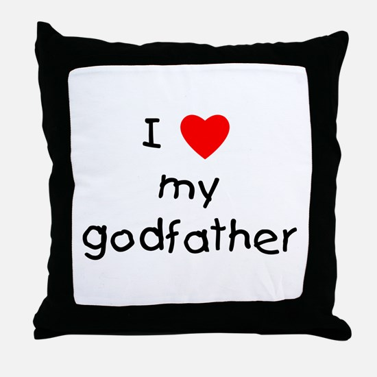 I love my godfather Throw Pillow