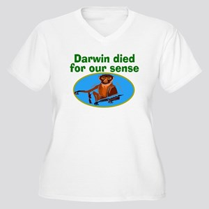 Darwin died for our sense Women's Plus Size V-Neck