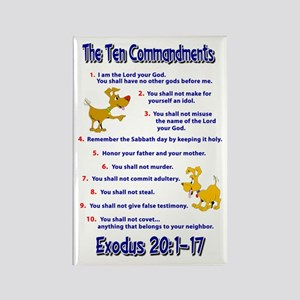Ten Commandments Rectangle Magnet