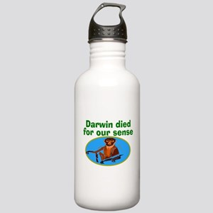 Darwin died for our sense Stainless Water Bottle 1