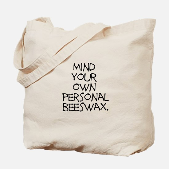Personal Beeswax Tote Bag