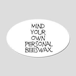 Personal Beeswax 22x14 Oval Wall Peel