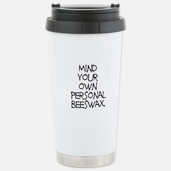 Personal Beeswax Stainless Steel Travel Mug