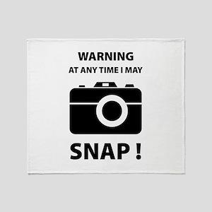 I May Snap Throw Blanket