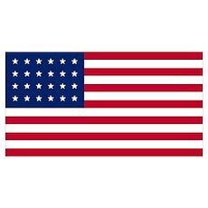 24 Star US Flag Poster