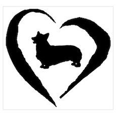 Pembroke Heart Poster