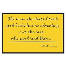 Twain Good Books--yellow Poster