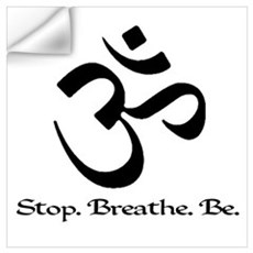 Om: Breathe & Be. Wall Decal