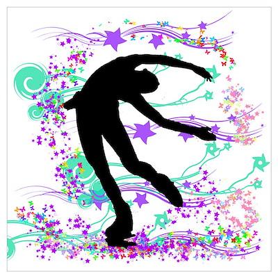 Ice Skater Spin Poster