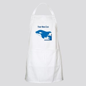 Whale in Blue, Custom Text Apron