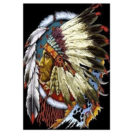 Superbe Unique Native American Wall Art $12.99. Temporarily Out Of Stock. INDIAN  CHIEF WHITE CLOUD