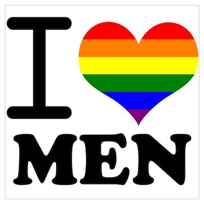 Gay Pride - I love men Poster